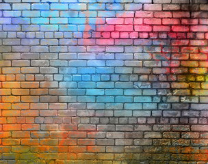 Photo sur Plexiglas Brick wall Colorful brick wall texture