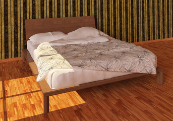 Bed Photorealistic Render