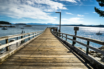 Halfmoon Bay  harbour, Sunshine cost, British Columbia