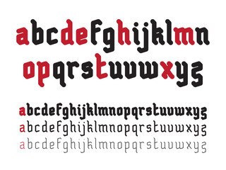 Fat Rounded Line Gothic Font