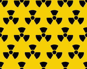 Radiation sign pattern