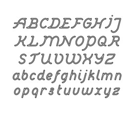 Rounded Double Line Font