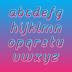 Rounded Line Font