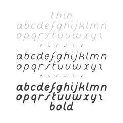 Cursive Small Case Font