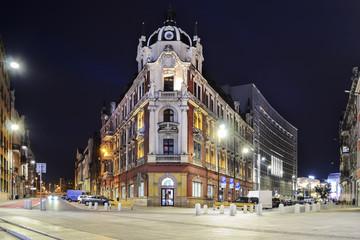 Obraz The main square in the city center of Katowice - fototapety do salonu