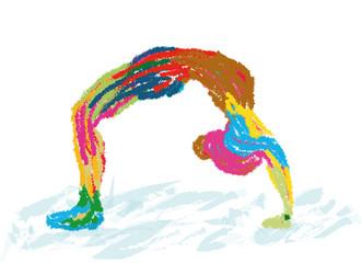 Abstrait - logo - peinture