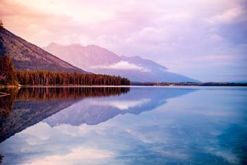 Fototapete - Leigh Lake
