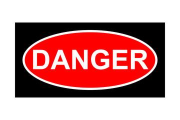 Danger signboard on white background