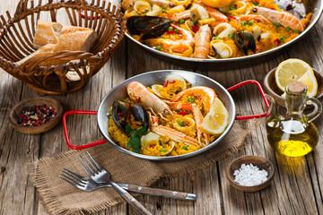Paella spanish food