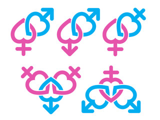Gender symbol : Male and female symbols combination