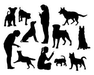 Dog training silhouettes