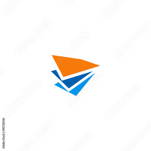 Paper Shape paper shape data business finance logo stock image and royalty free