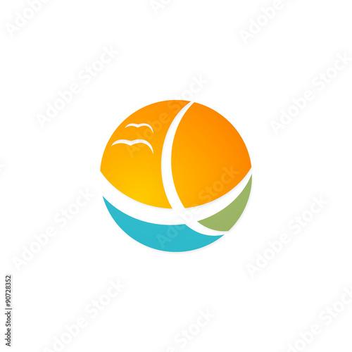 House Vila Palm Tree Beach Travel Logo Stock Image And Royalty Free Vector Files On Fotolia