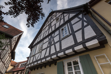 historic buildings at aschaffenburg germany