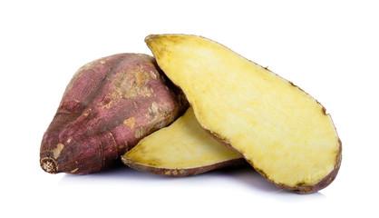 sweet potato isolated on the white background