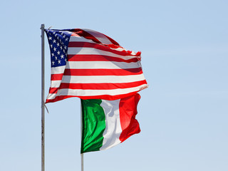 Italian and US flag