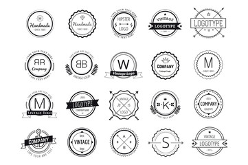 Massive logo badges template bundle