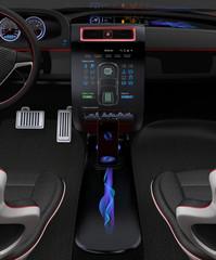 Electric car multimedia interface design concept.