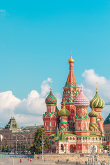 View to Cathedral of Vasily the Blessed (Saint Basil's Cathedral) in summer morning