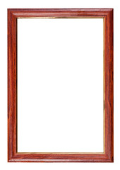 vertical red brown wooden picture frame