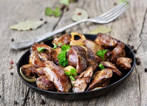 Вкусная жареная куриная печень рецепты фото