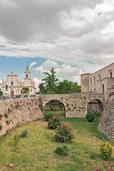 bridge of castle aragonese of Venosa in Basilicata