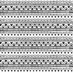 Grange Seamless pattern in style zentangle (ethnic, doodle). Black and white geometric seamless pattern.
