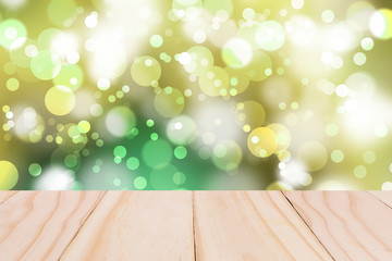 wooden over blurred beautiful with bokeh background