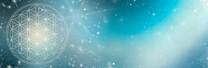 Flower of Life - cosmic light banner