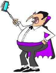 Vampire with a selfy stick
