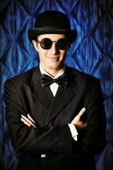 man in bowler-hat