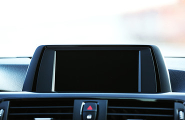 Screen inside the car