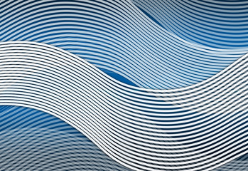 Abstract white and blue waves.