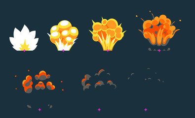Explosion animation for game