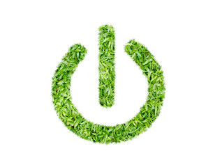 Green Turf Logo of Power (switch on off)