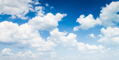 blue sky with cloud closeup Wall mural