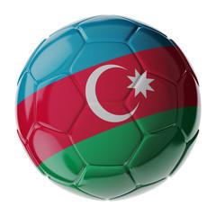 Soccer ball. Flag of Azerbaijan
