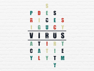 Protection concept: word Virus in solving Crossword Puzzle