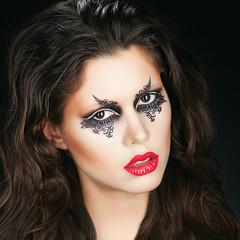 Portrait with fantasy makeup.