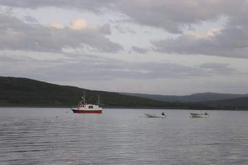рыболовные суда в заливе Норвегии