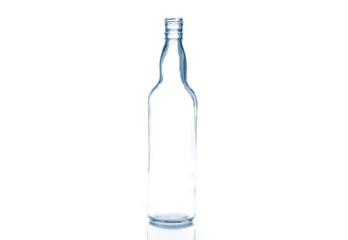 Empty transparent bottle