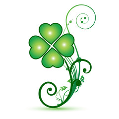 Clover shamrocks flower st patricks