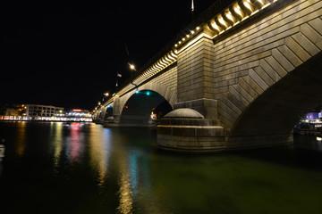 London Bridge at Lake Havasu in Arizona on a summer night.