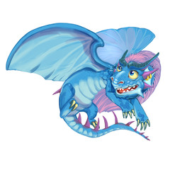 Cartoon dragon of the lord of the sky and air