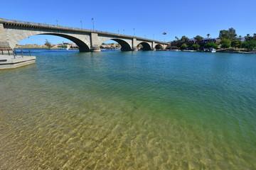 London Bridge at Lake Havasu in Arizona on a summers day