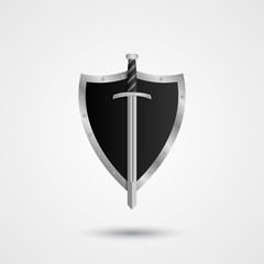 Shield with sword