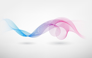Abstract Color blend wave