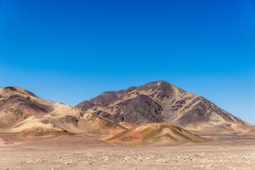Mountain range in the desert