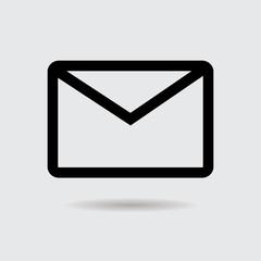 Envelope web icon, message sign, vector.