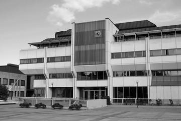 The modern city hall building in Lappeenranta.